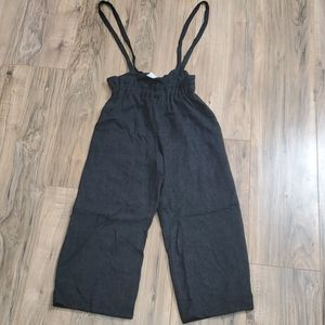 Zara Girls Pants with Button Suspenders